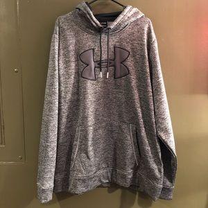 NWOT Under Armour Mens Sweatshirt Sz XXL Gray/Blk